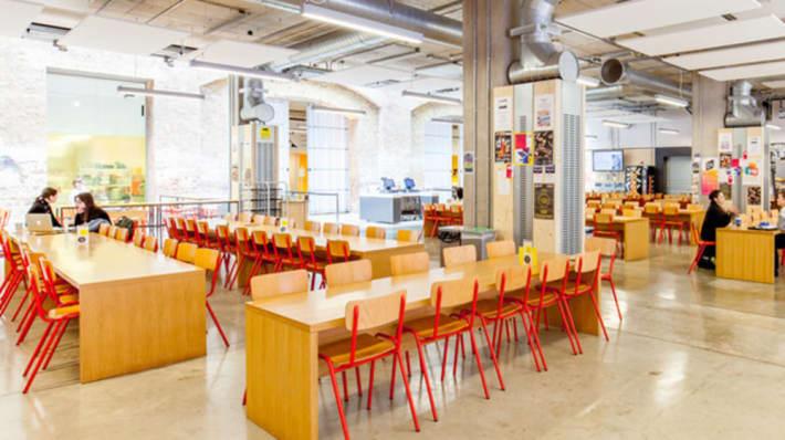 Interior of canteen at Central Saint Martins