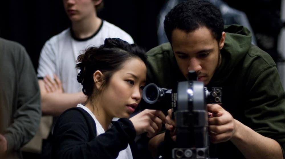 International students on a Photography course