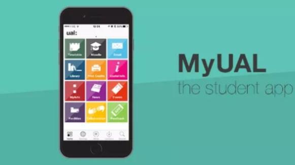 Screenshot of the UAL mobile app