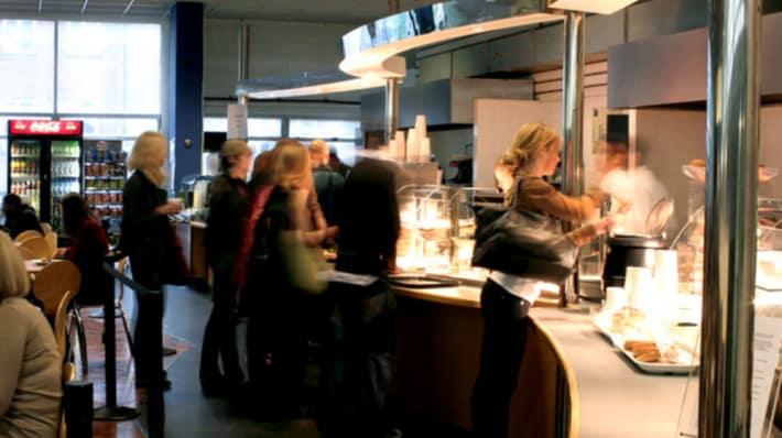 Interior of canteen at LCC