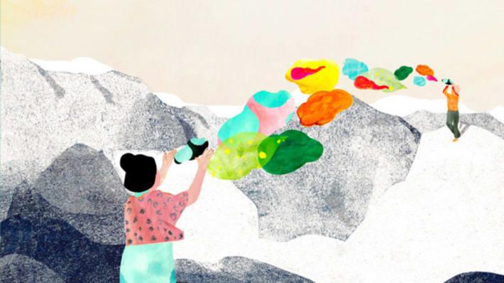 Illustration Mountain Marja De Sanctis