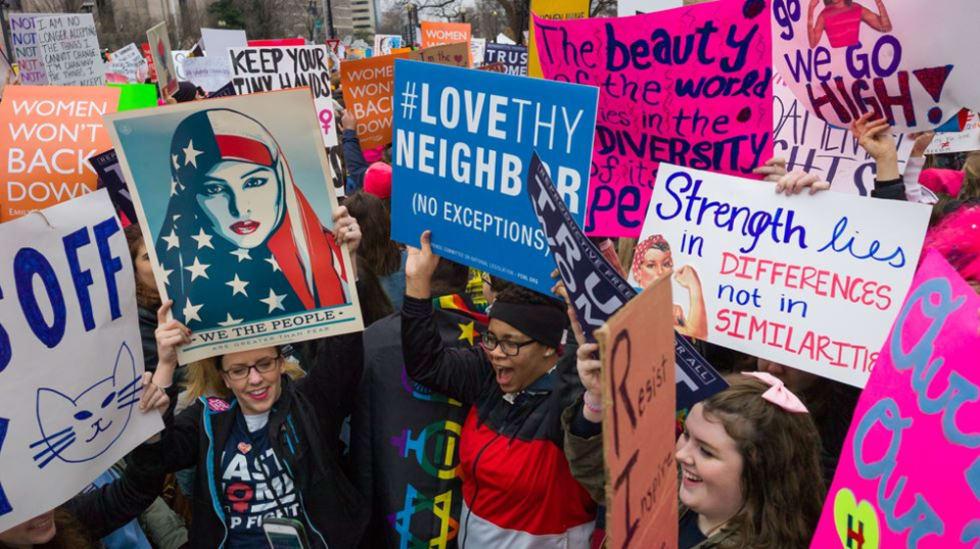Women's march, Washington DC, January 2017
