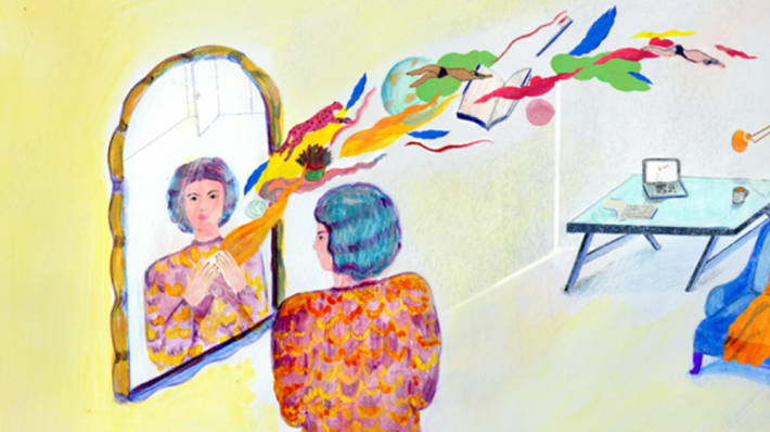 Illustration Mirror Marja De Sanctis