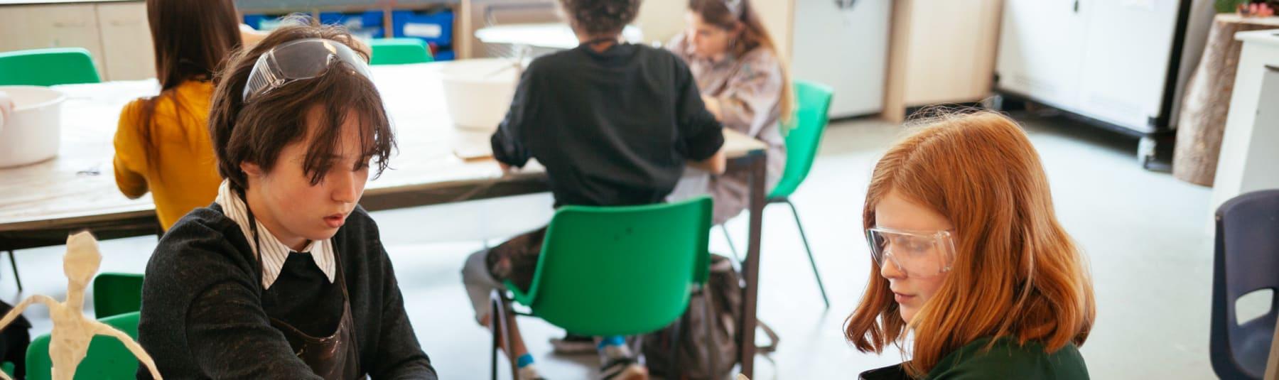 Kids in class.