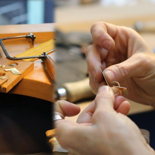 Students making jewellery