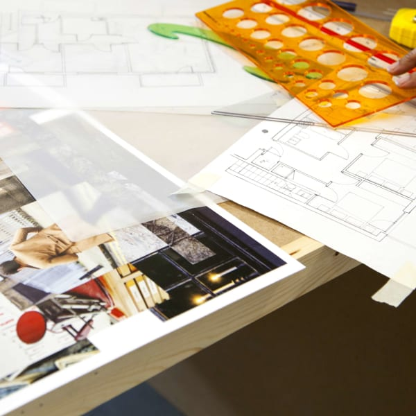 Concept Board and tools on a desk