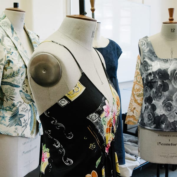 garments made by students in classroom