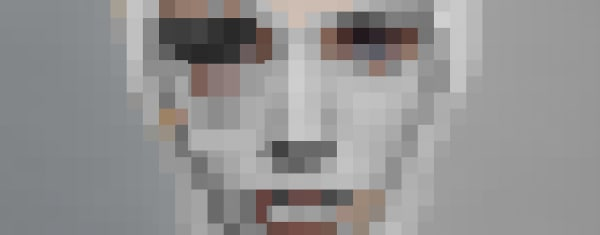 Pixelated face