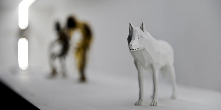 A model of a wolf designed by an animation student.