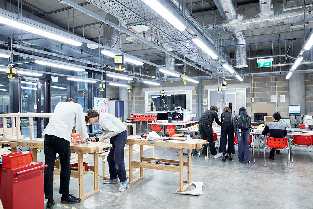 Camberwell College of Arts student led maker space.