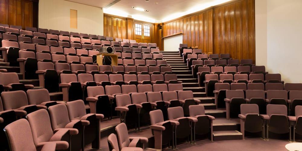 Chelsea College of Arts lecture theatre.