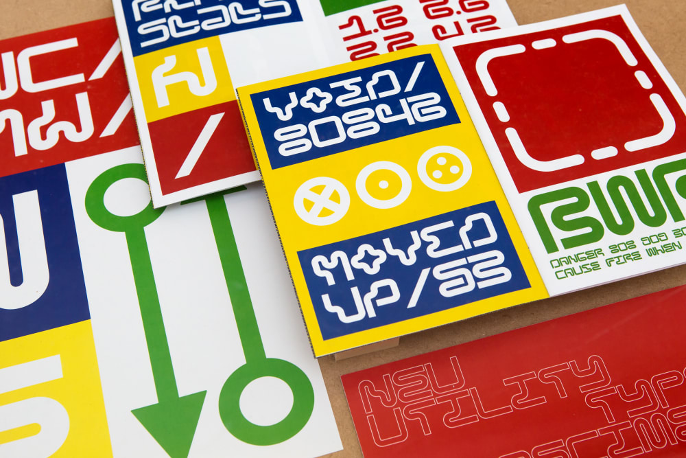 Brightly coloured posters showing graphic design and typography work - image for short courses at London College of Communication