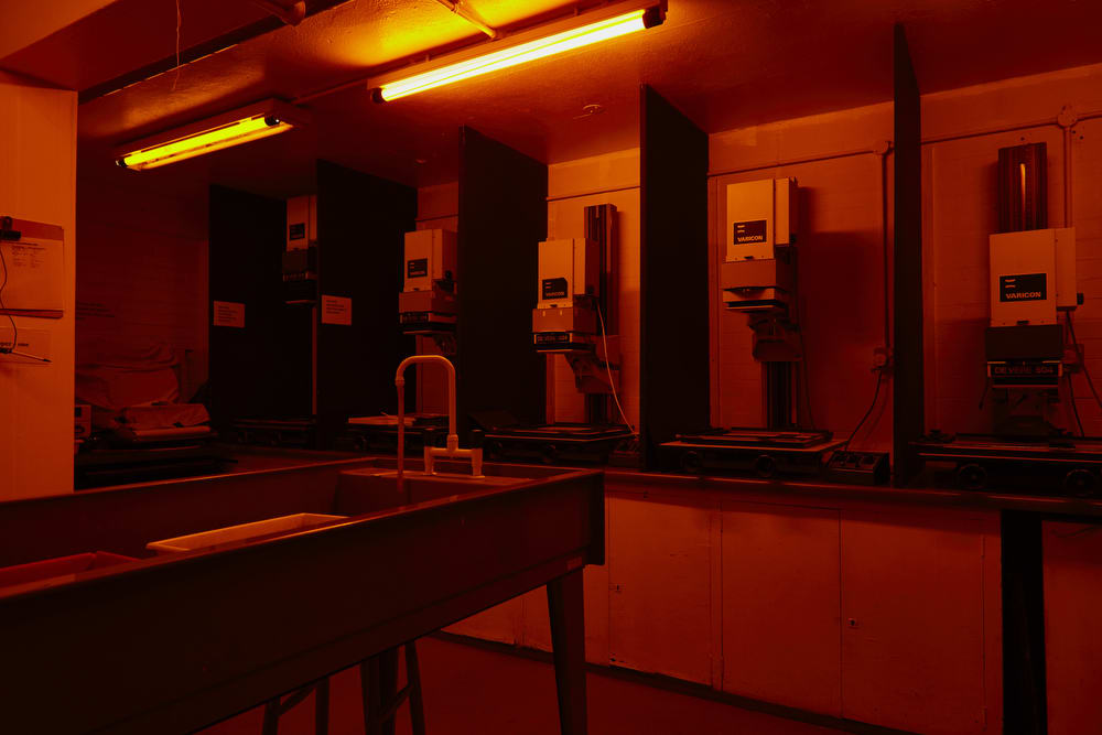 Photography darkroom.