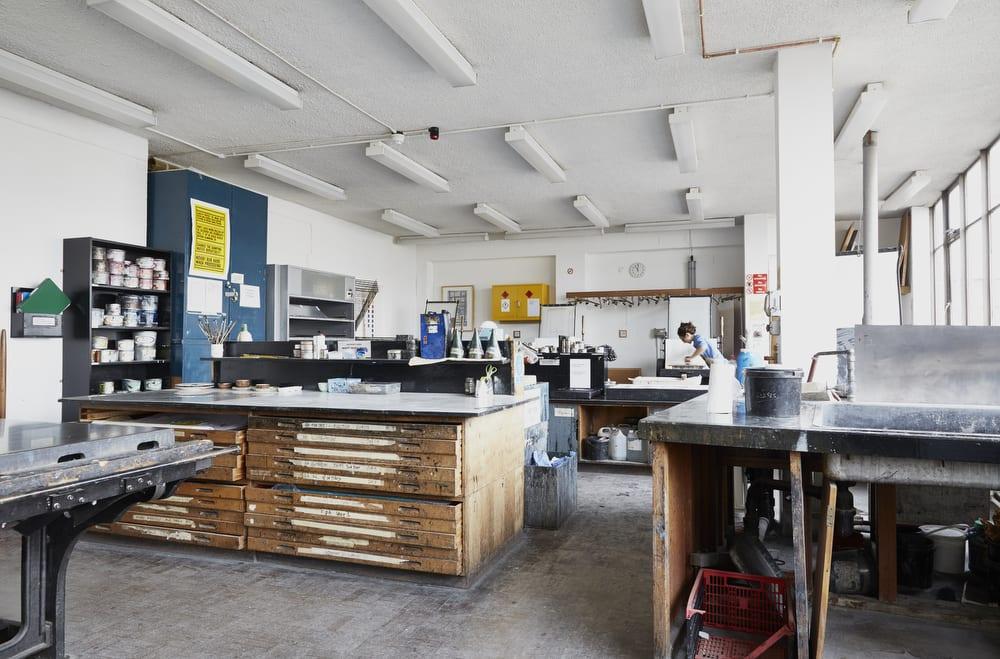 Camberwell printmaking workshop.