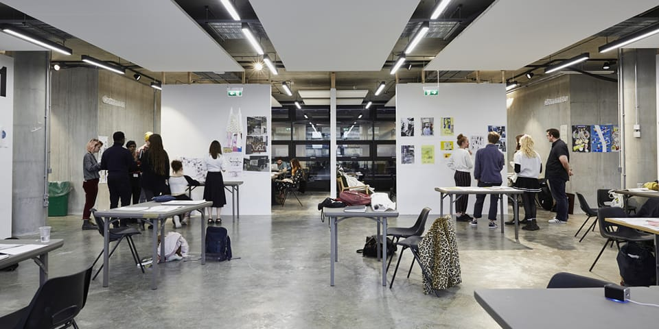 BA Illustration studio at Camberwell College of Arts.