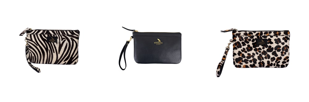 Leather clutch bags and small accessories UK
