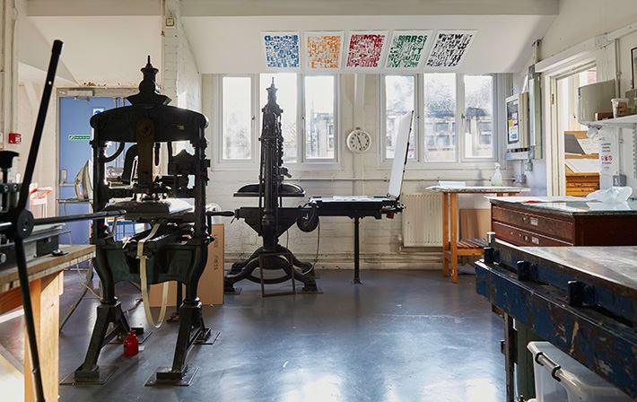 Foundation printmaking facilities.