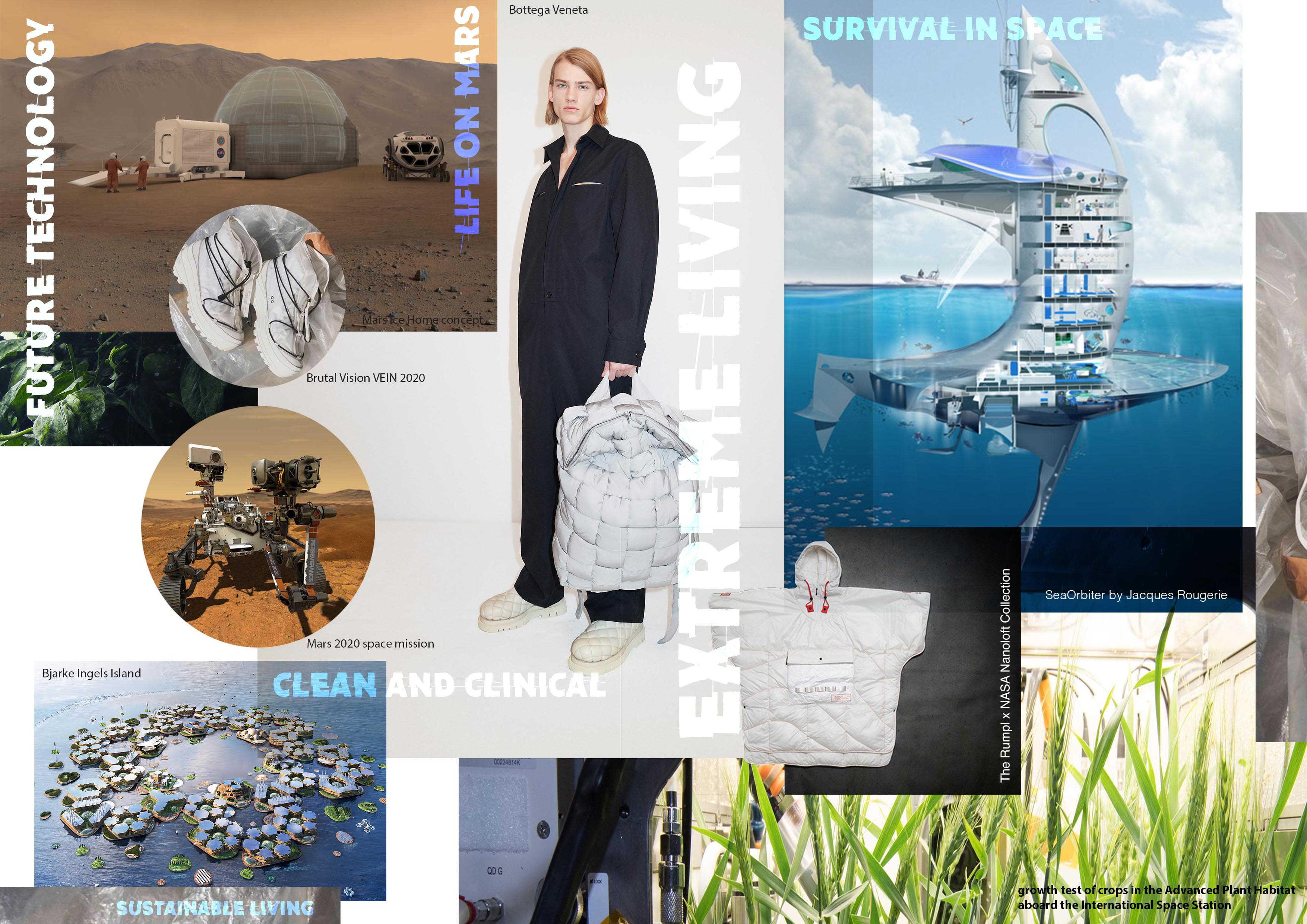 A trend board of ideas by Jane Dark for the concept of Extreme Living