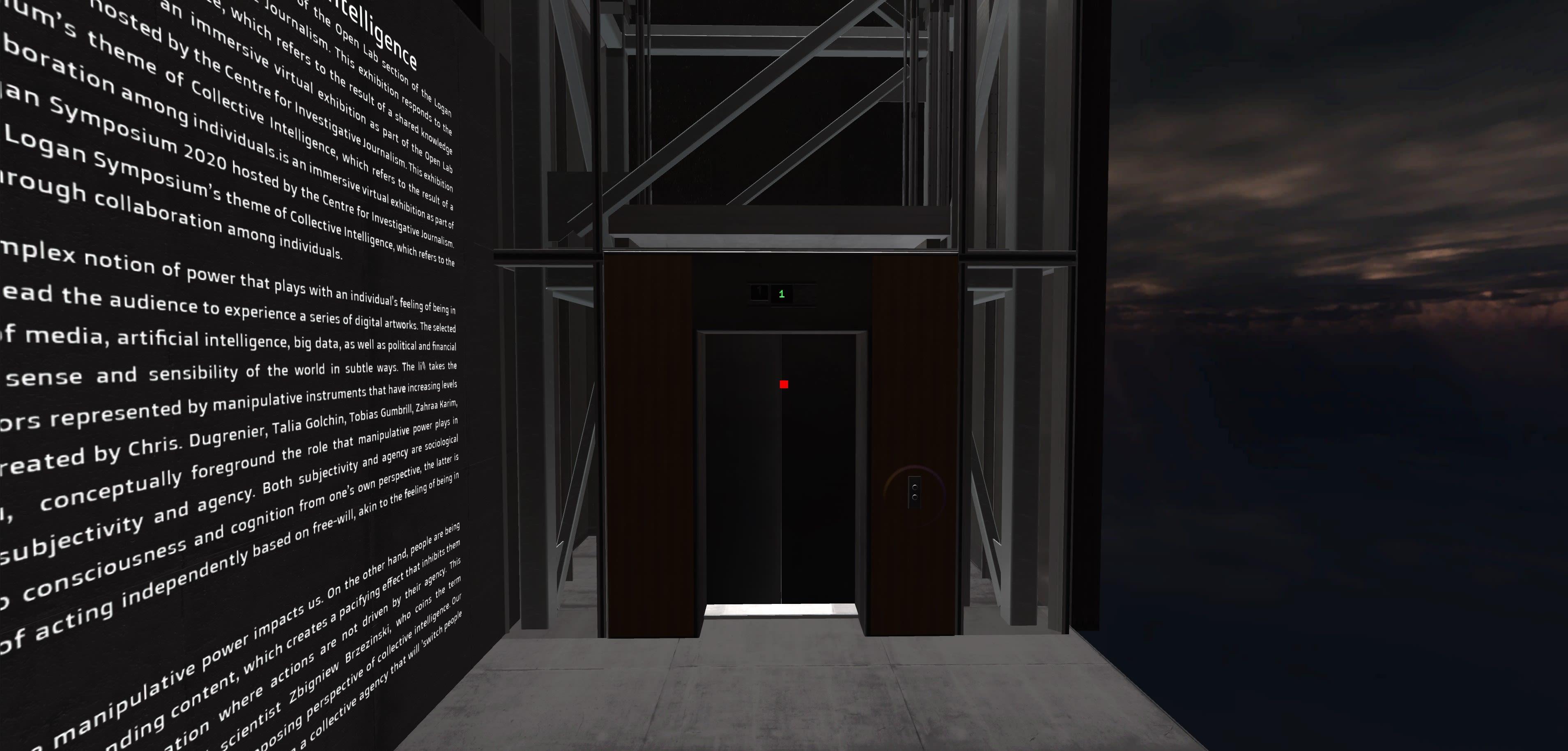 screenshot of virtual exhibition