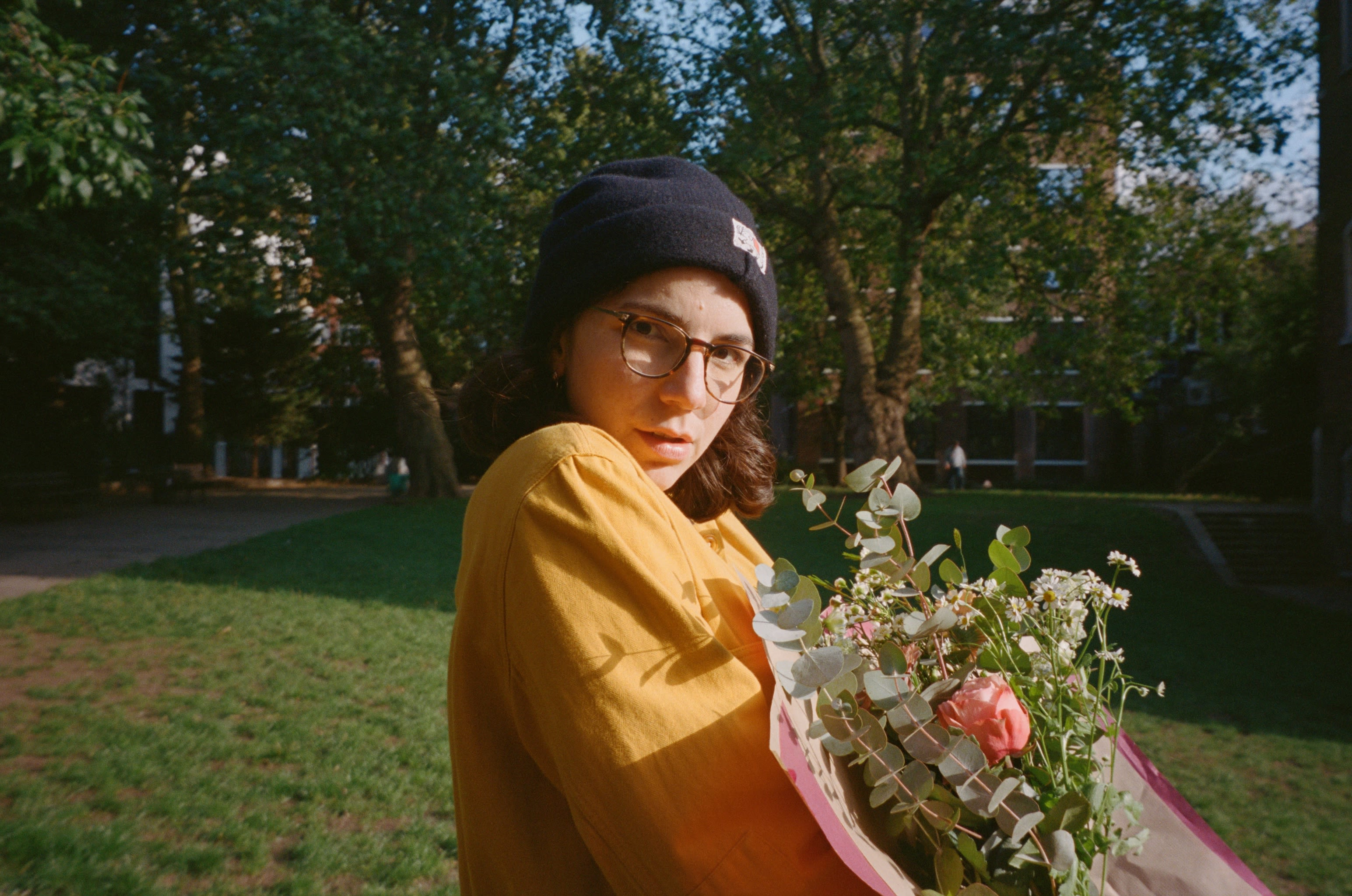 Photo of Ana Blumenkron holding Flowers