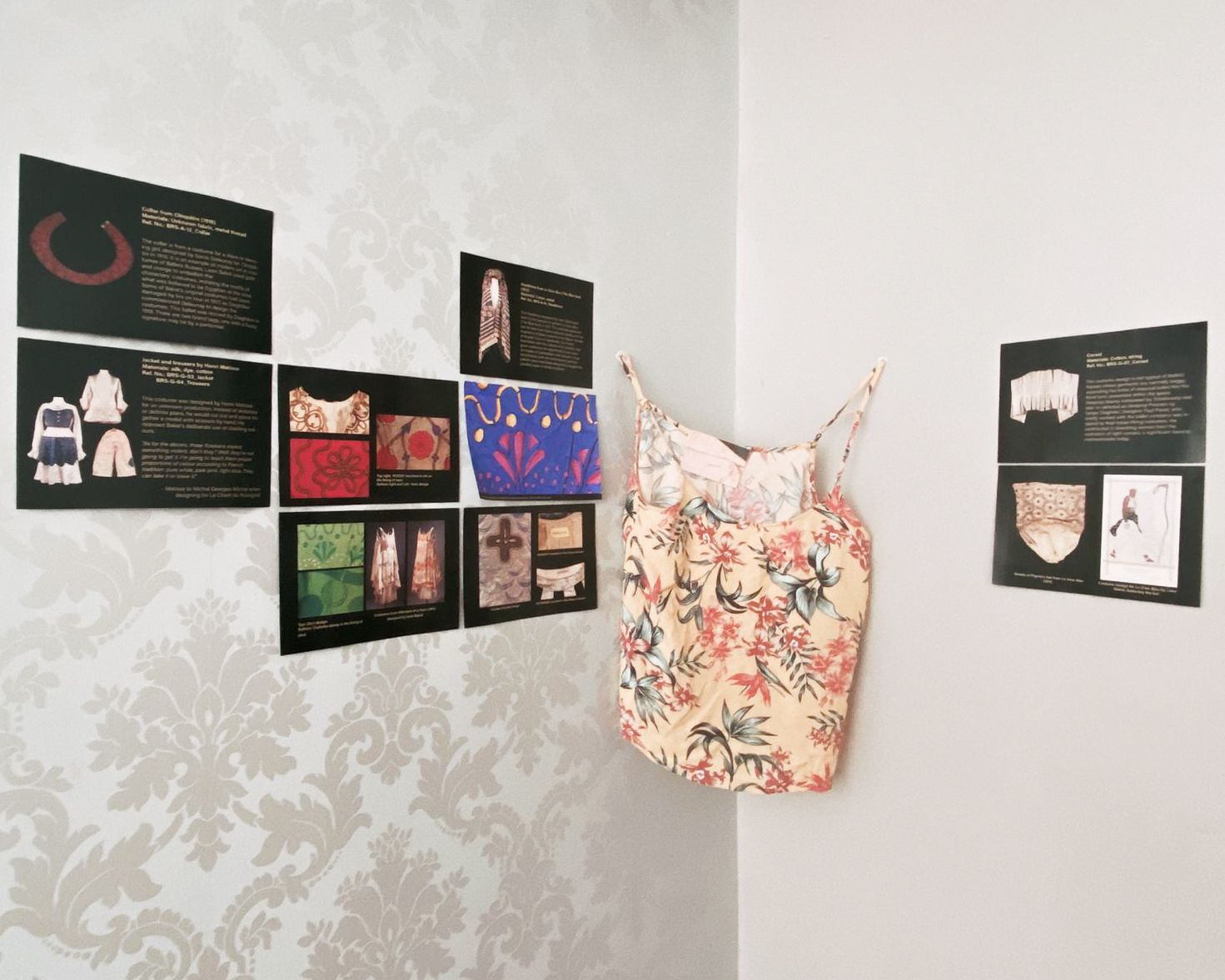 installation view of Analogue (Mail) exhibition in a living room