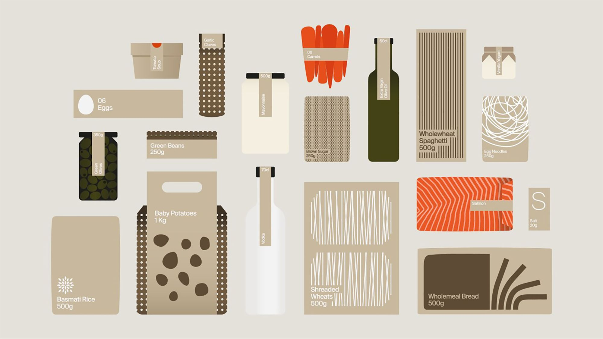 Images of food packaging