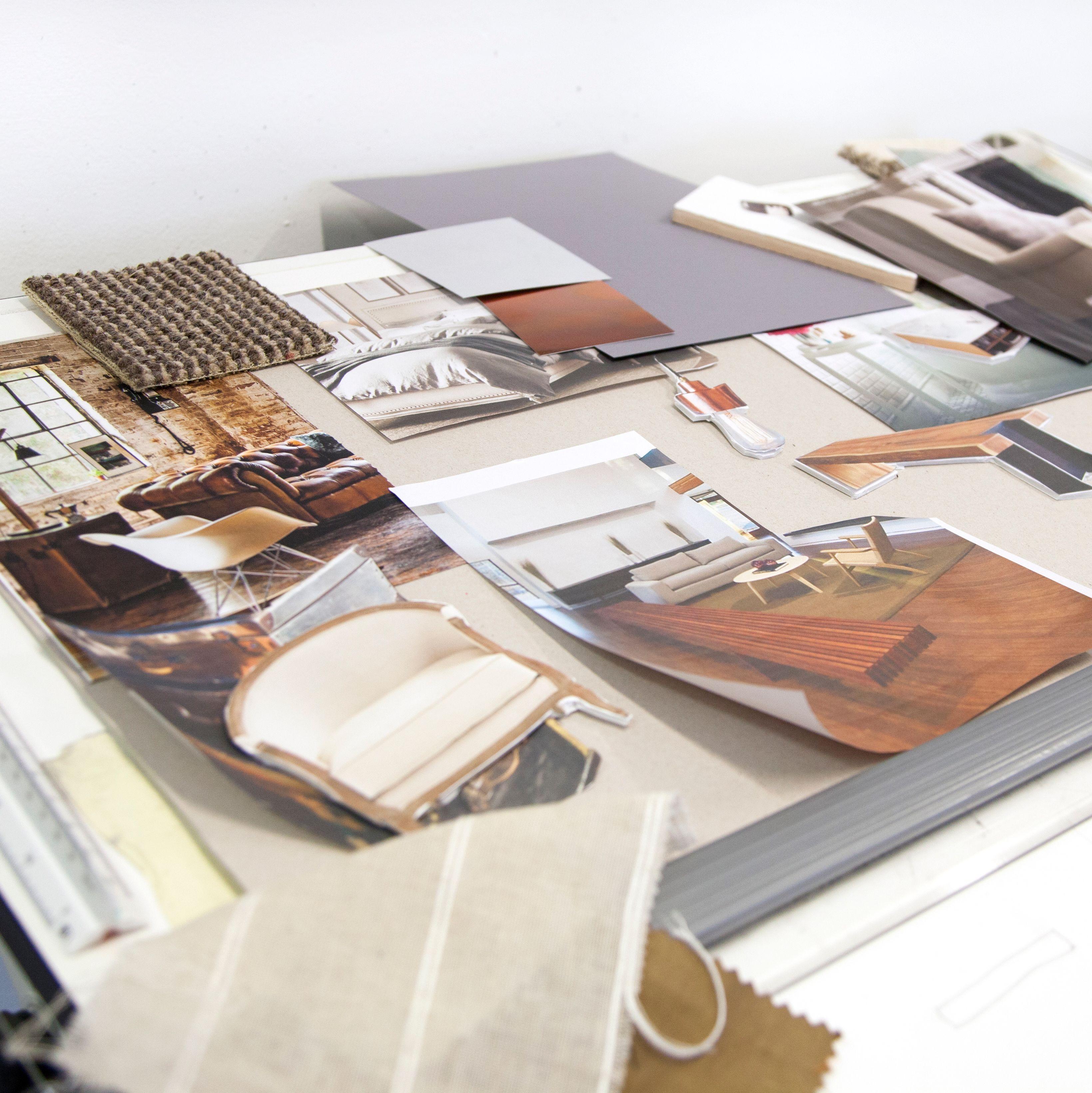 Work produced during an Interior Design short course
