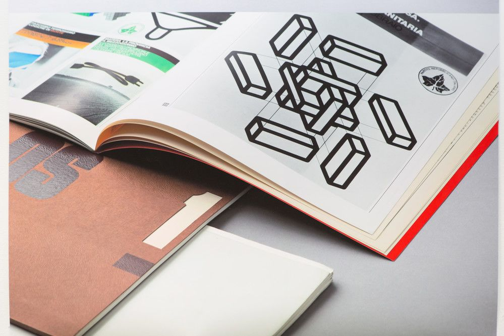 Magazine page with shapes