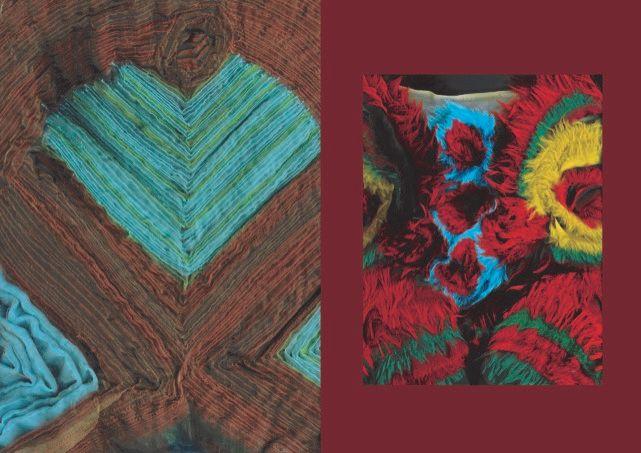 Sketchbook work of thick woolen fabrics