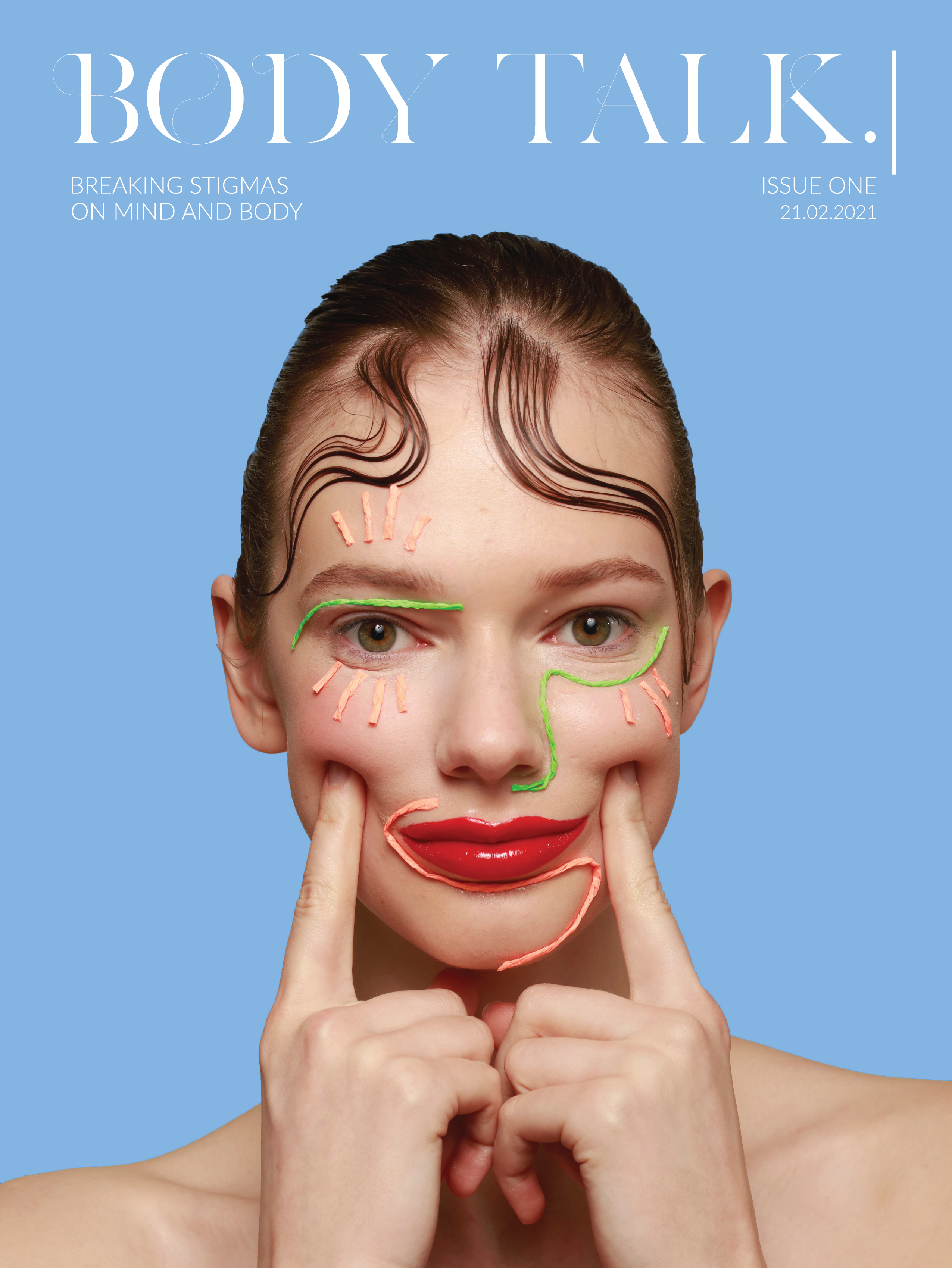 Body Talk Zine cover of woman with face paint