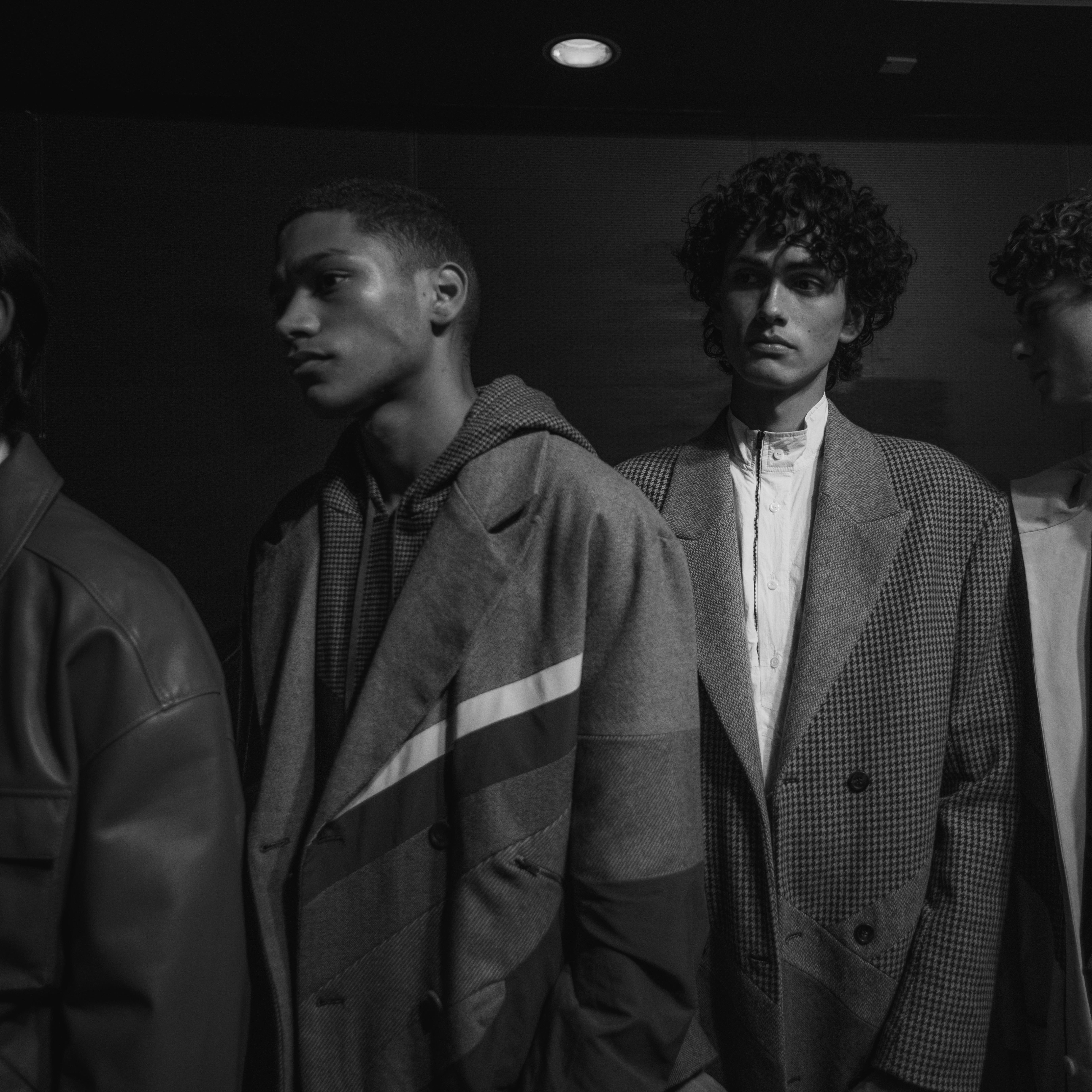 Menswear models backstage at the MA20 Catwalk Show