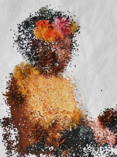 Pixelated image of model