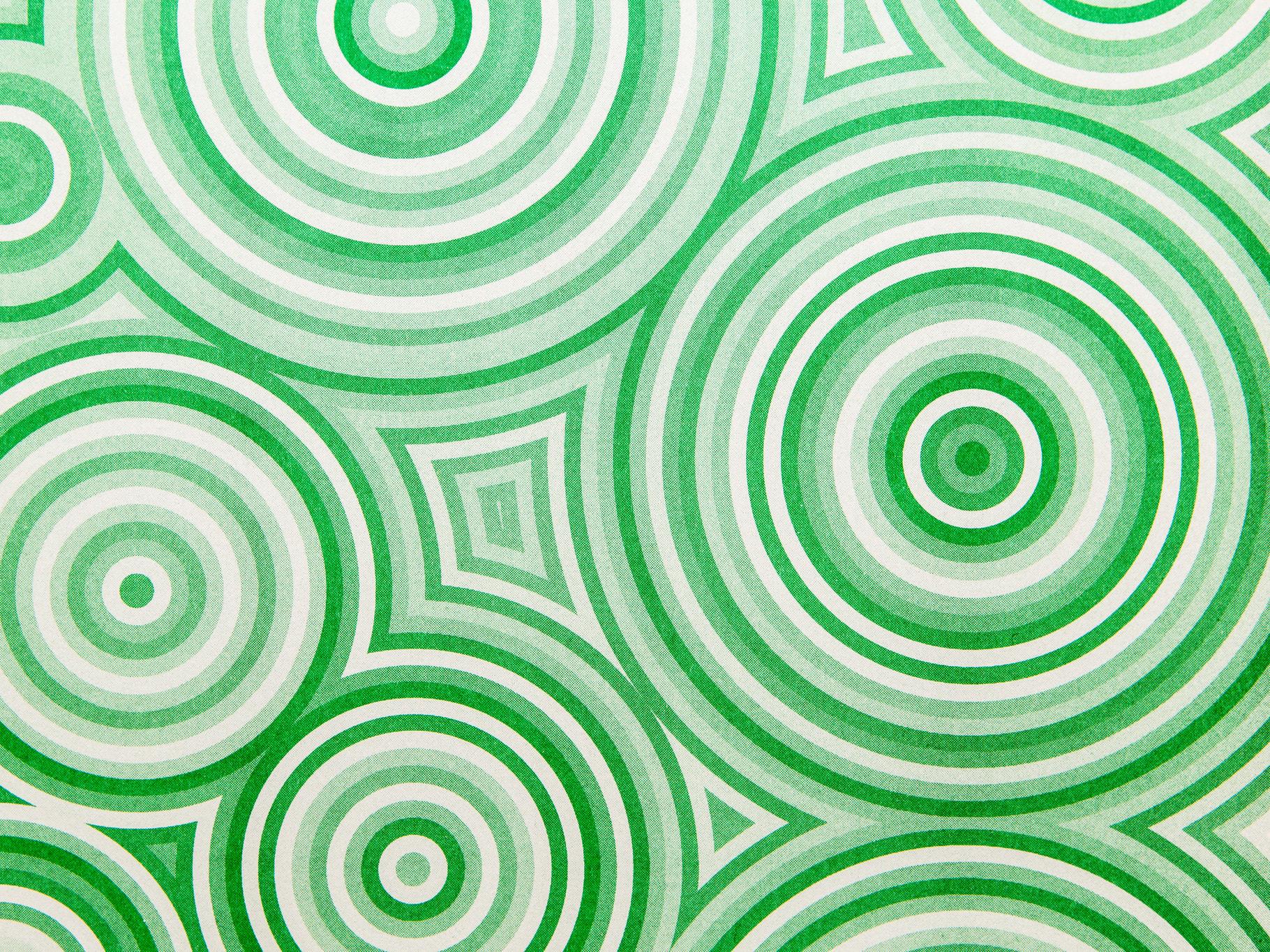 swirling green circles