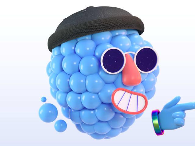 Big Welcome character wearing sunglasses