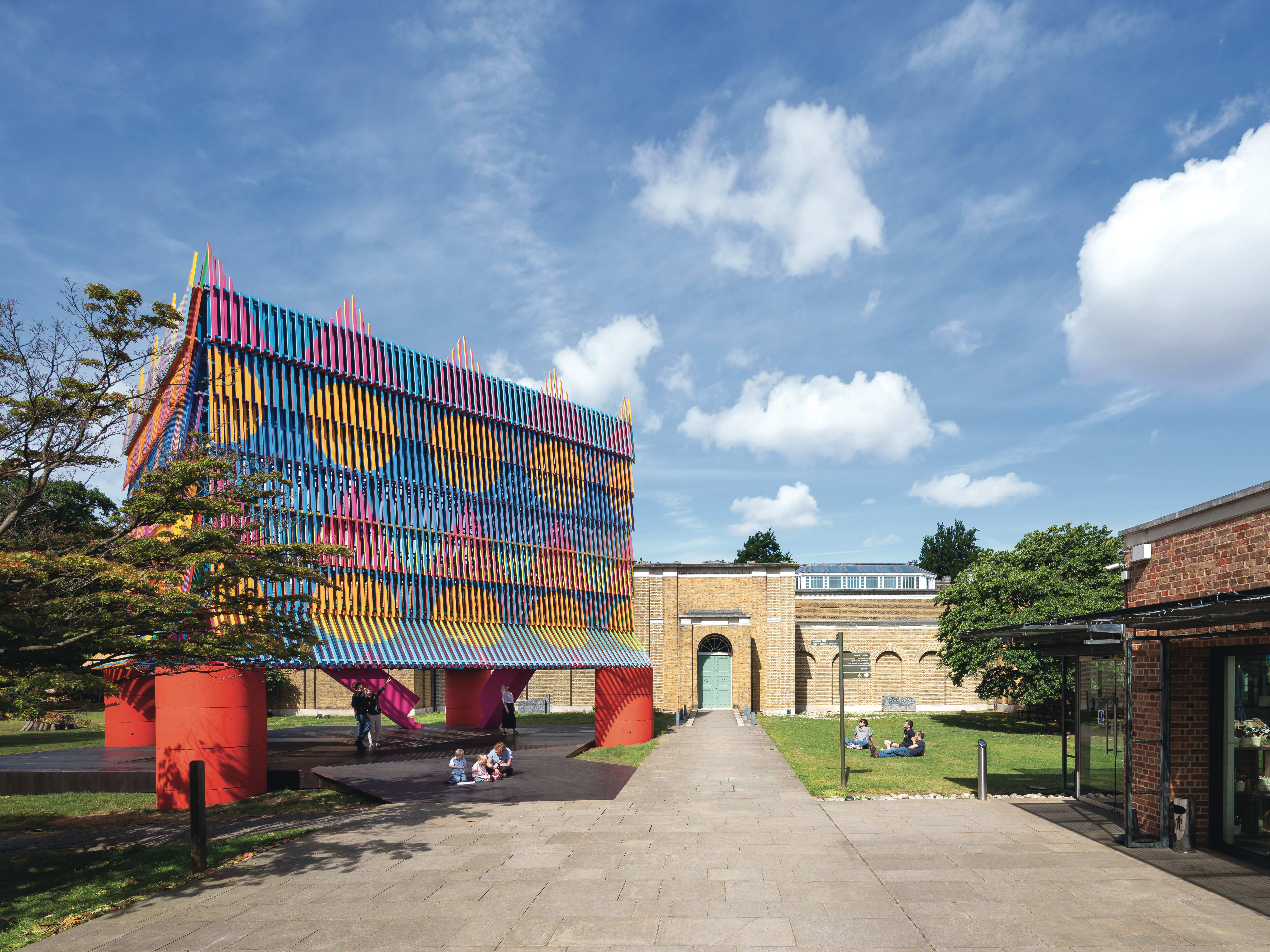 Student work erected in the gardens of Dulwich Picture Gallery