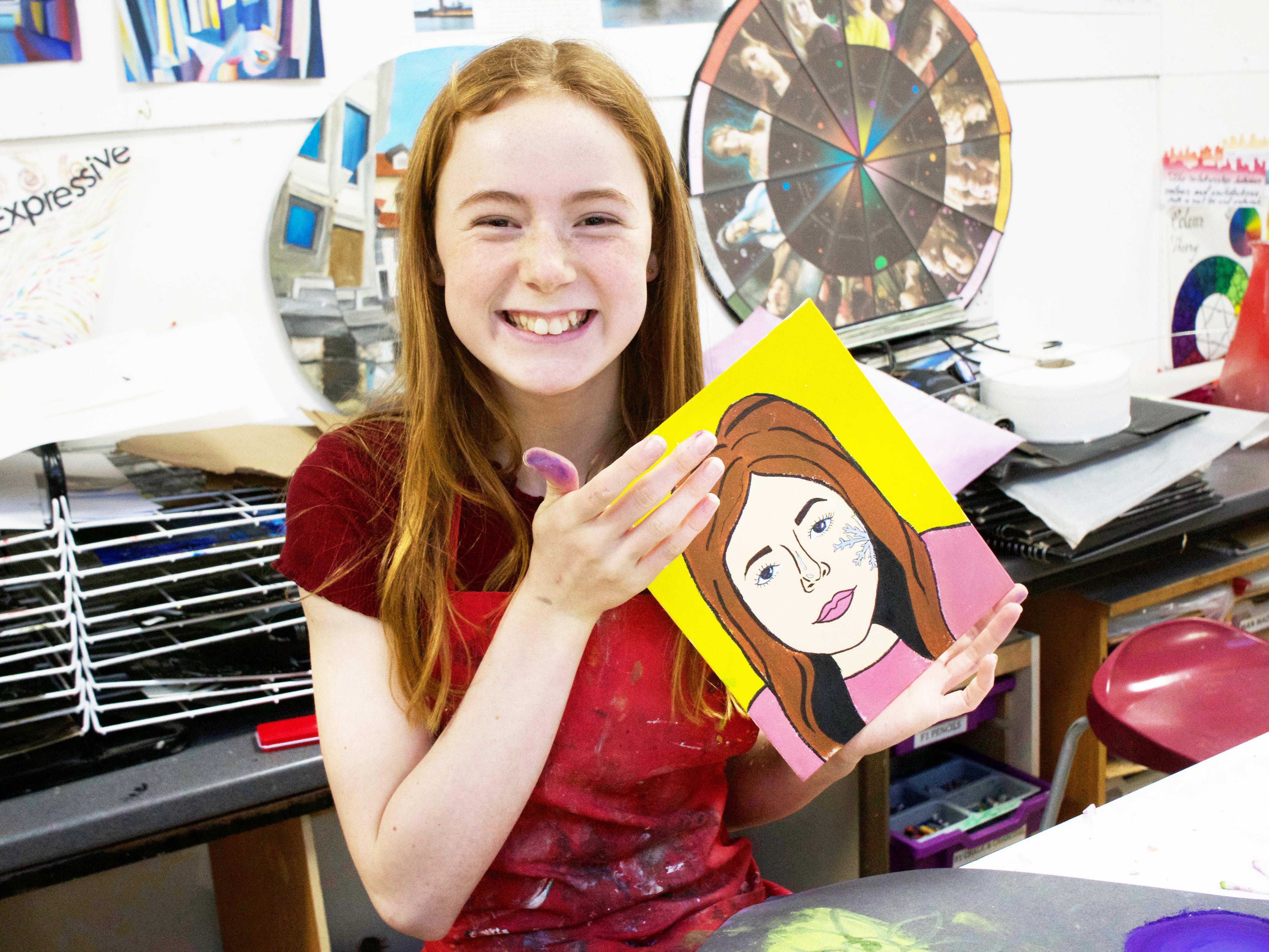 Online art classes for 11-17 year olds