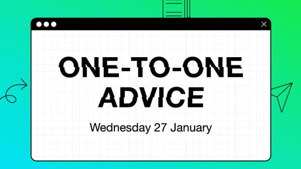 One-to-one Advice: CV or Portfolio Feedback