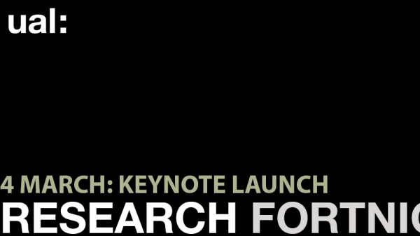 UAL Research Fortnight 2019 Launch Event Professor Walter Kaelin