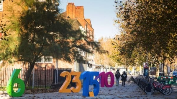 LCC designers install Superdigits to promote cycling in Elephant and Castle
