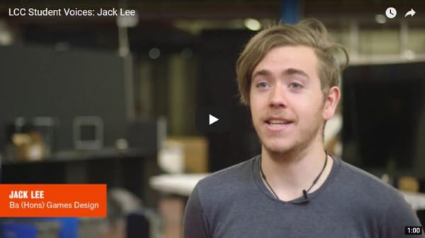 Student Voices: Jack Lee – BA (Hons) Games Design