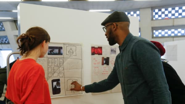 Students from BA (Hons) Photography teach A-Level students as part of Tate Exchange project 'Stop The Flow!'