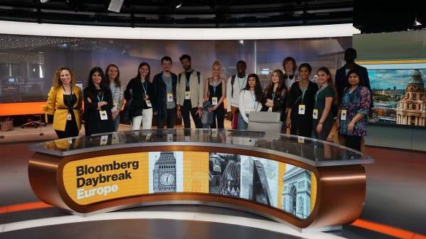 BA (Hons) Journalism students visit Bloomberg's award-winning headquarters