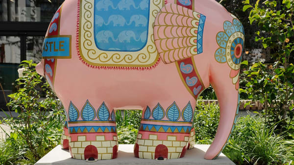 LCC students contribute to Elmer The Elephant local project