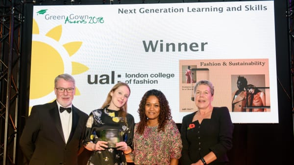Sustainability success for UAL with 2 Green Gowns, a commendation and 5 nominations