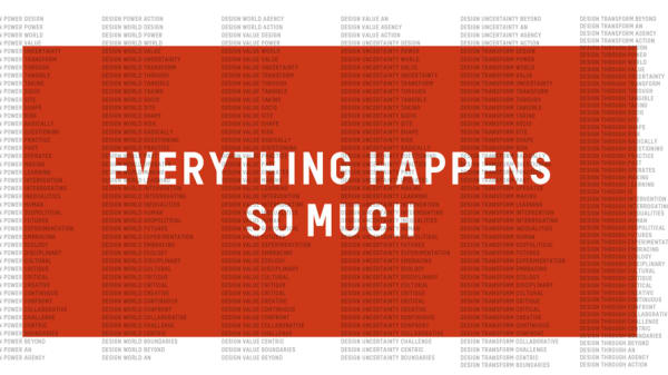 Everything Happens So Much – Q&A with Dr Nicky Ryan, Dean of Design