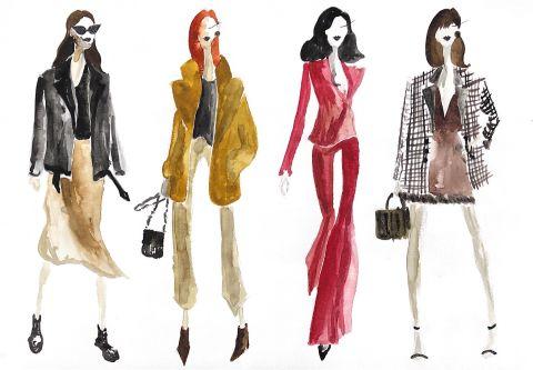Colourful fashion Illustrations.