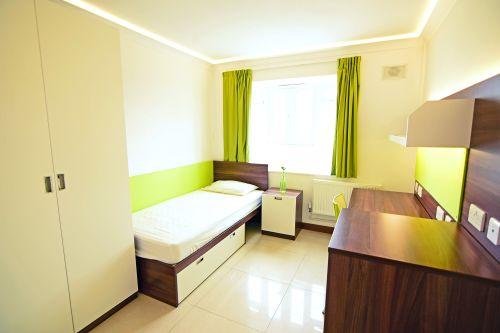 Furzedown Standard ensuite room including single bed, very large wardrobe, desk
