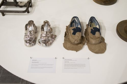 shoes with melting or mud effect