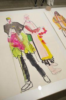close up of a fashion illustration