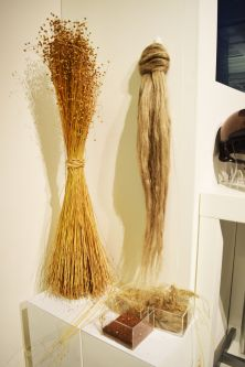bunches of flax at the CELC stall